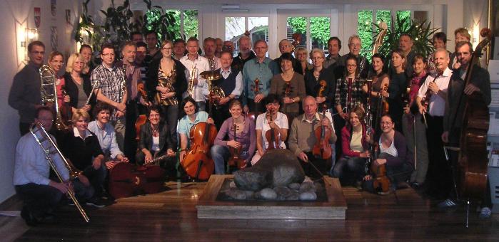 Orchester - Gruppenfoto beim Probenwochende